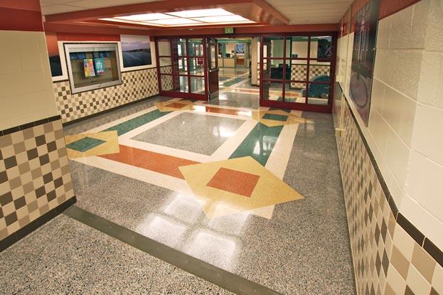 Master Terrazzo Phoenix Academy lobby terrazzo floor