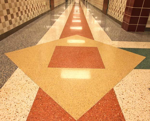 MasterTerrazzo Phoenix Academy hallway terrazzo floor
